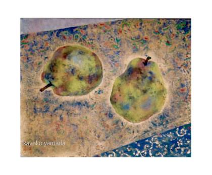 <F3号>岩絵の具、金箔、水干絵の具